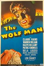 The Wolf Man Vintage Movie Poster Fine Art Lithograph Lon Chaney Bela Lugosi S2