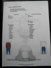 1892-93 FA Cup Semi Final (2nd Replay) Everton v Preston North End matchsheet