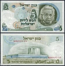 ISRAEL 5 Lirot 1968 ALBERT EINSTEIN  Pick 34b  SC / UNC