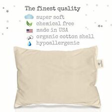 100% ORGANIC Cotton Toddler Pillow HYPOALLERGENIC & WASHABLE made in USA