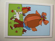 Carte de Pâques double- Tintin oeufs en chocolat. Hergé