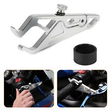 Motorcycle Silver Cruise Control Clamp Throttle Lock Assist Retainer Wrist Grip