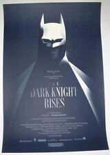 The Dark Knight Rises Batman Olly Moss Movie Poster Print 2012 Mondo Limited Ed