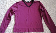 Neuwertiges Stretch-Shirt,langarm,Gr.128 v.Yannick,bordeaux,100% Polyamid