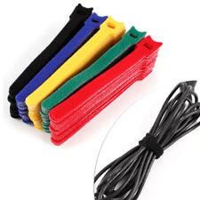 Attache-câbles auto-agrippant de câbles informatiques noirs