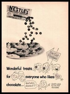 1959 Nestle's Semi-Sweet Chocolate Chip Cookies Toll House Morsels Bag Print Ad