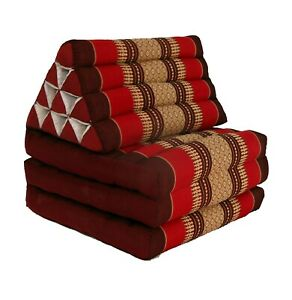 Thai Three Fold Triangular Cushion - Red/Maroon (DM24)