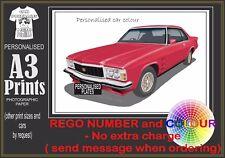 76-77 HX HOLDEN MONARO A3 ORIGINAL PERSONALISED PRINT POSTER CLASSIC RETRO CAR