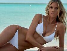 STUNNING MELISSA ODABASH Tobago Beaded Bikini White Size 8
