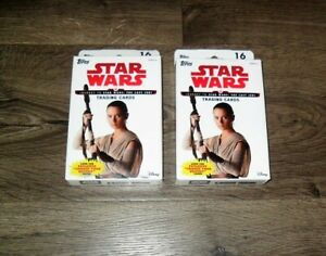 TOPPS DISNEY STAR WARS JOURNEY TO THE LAST JEDI 16 CARDS RETAIL BOX LOT OF (2)