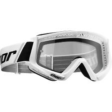 NEW WHITE THOR COMBAT ADULT MOTOCROSS ATV MX  GOGGLES  CRF RMZ YZF KFX SNOW