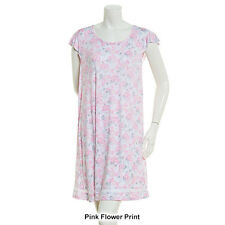 NEW ELLEN TRACY PINK FLORAL PRINT PAJAMA NIGHTSHIRT NIGHTGOWN GOWN 2X 2XL $50