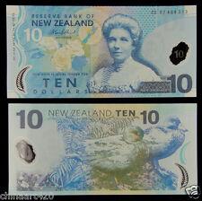 New Zealand Polymer Plastic Banknote 10 Dollars UNC