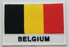 """BELGIUM Flag EMBLEM PATCH SEW ON EASY TO USE 2""""x3"""""""