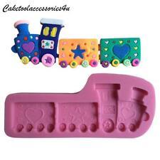 Tren Molde de Silicona Bebé Bautizo Fondant Tarta Borde CHOCOLATE