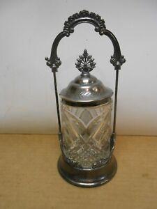 antique victorian pickle castor yale quadruple silver plate kitchen serving