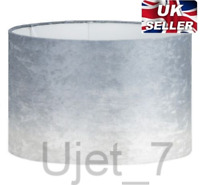 Silver Grey Crushed Velvet Fabric Dual Effect Light Ceiling Pendant Ombre Shade
