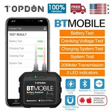 TOPDON BT Mobile Car Bluetooth  Wireless Battery Tester Charging Cranking Test