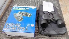 SUPERB OLYMPUS 8-16 x 40 ZOOM DPSI BINOCULARS NEVER USED INC CASE STRAP & BOX