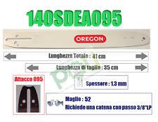 BARRA LAMA MOTOSEGA OREGON 140SDEA095  PASSO 3/8'' LP  SPESSORE 1.3mm  52 MAGLIE