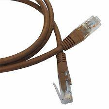 15M (49.2ft) brown câble ethernet Cat5e RJ45 réseau lan patch plomb 100% cuivre