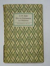 RARE Book : Uber die Bestimmung des Gelehrten by Johann Gottlieb Fichte