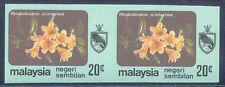 MALAYSIA NEGRI SEMBILAN 1979 20 C. flowers U/M pair VARIETY: IMPERFORATED