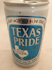 Texas Pride Extra Light Pearl Brewing Aluminum 12oz Beer Can Bottom Opened