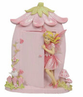 Fairy with Fairy Door - Pink - 20 x 12cms - AU Seller