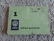Volkswagen 1961 Without Guesswork Type 1 Type 2 Type 3 Type 4 PRISTINE Manual