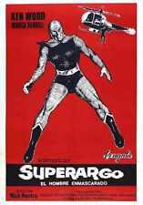 Superargo Vs Diabolicus Cartel 04 A3 Caja Lona Impresión