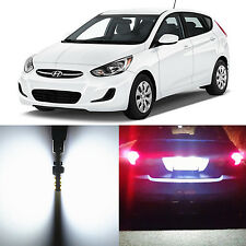 Alla Lighting License Plate Light 2825 W5W White 12V LED Bulb for Hyundai Accent