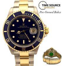 Rolex Uboot Zweifarbig 18K Gold & Stahl Blaue Zifferblatt 40mm 16613 2000 Uhr
