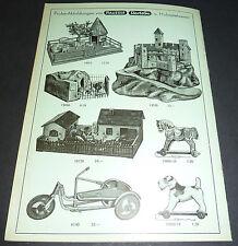 Hausser Elastolin Figuren Katalog Preisblatt 1938/39 Panzer Spiele Burgen etc.