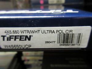 "New Tiffen 4x5.65"" Ultra Circular Polarizing White Water Glass Filter W45650UCP"