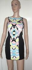 SIZE 6, EUR 34, MISS SELFRIDGE MULTI COLOURED SHORT/MINI DRESS, BNWT, RRP £39