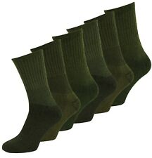 2 / 4 Pairs Assorted Hiking Boot Work Socks Army Green UK 6-11