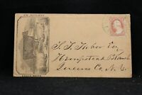 New York: Camillus 1856 #26 Enoch Marks Cover Advertising Cover + Letter