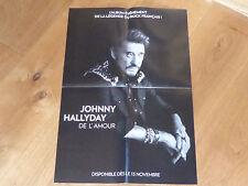 JOHNNY HALLYDAY - DE L'AMOUR !!!PLAN MEDIA POSTER!!!!!