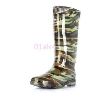 Mens Knee High Tall Waterproof Rain Rubber Boot Shoes 2017 Fashion