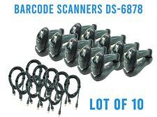 Lot Of 10 Motorola Symbol Ds6878 Amp Cradle 2d Wireless Bluetooth Barcode Scanner