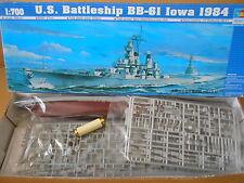 Battleship-戰艦模型-US Navy Battleship BB-61 Lowa 1984 version. 1:700 Optional waterline or full hull