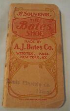 "Antique 1908 A.J. BATES CO Ad Notebook~""The BATES SHOE""~Fresno CA EINSTEIN Store"