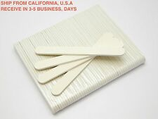 50PCS WHITE ROUND NAIL SANDING FILES GRITS 100/100