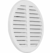 Circle Air Vent Grille Cover Ø140mm WHITE Adjustable 75 to 125mm Ducting