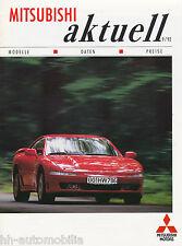 Mitsubishi Aktuell 1992 Prospekt 9 92 Sigma L300 Eclipse Pajero 3000 GT Space