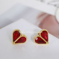 Kate Spade Rock Solid Stone Small Heart Ear Studs - Red Ruby