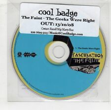 (GW570) The Faint, The Geeks Were Right - 2008 DJ CD