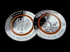 Deutschland,  5 Euro, 2018 G, Sammlermünze, Subtropische Zone, Polymer, pfr.,+.!