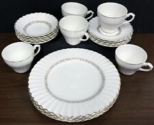 Set of 19 Garland Gold Laurel cups,saucers. plates,bowls by J & G Meakin England